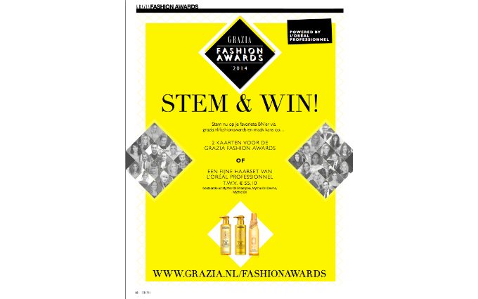 Win tickets to Grazia Fashion Awards with L'Oréal