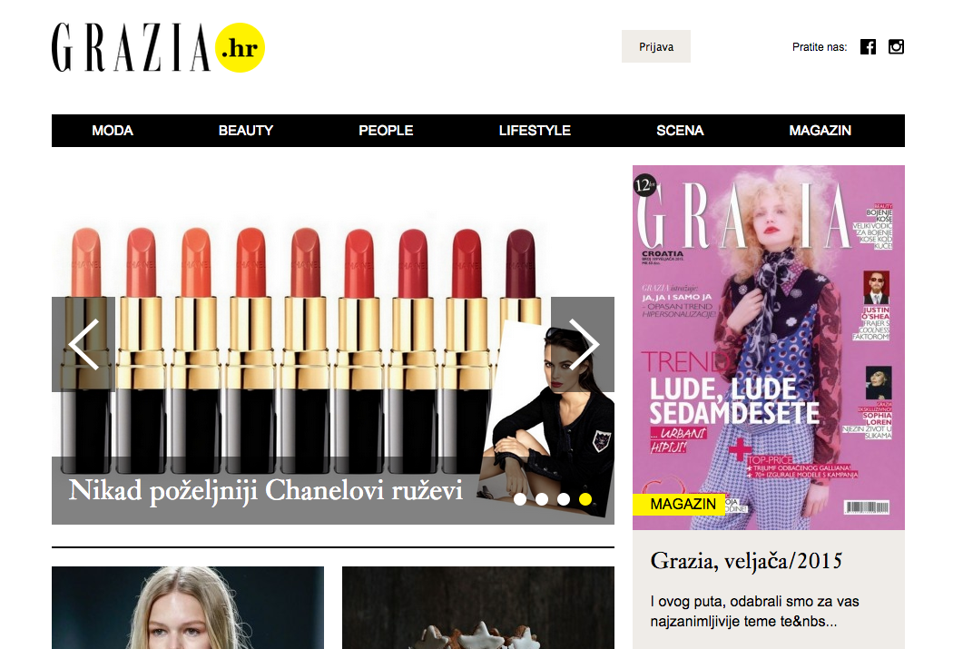 Welcome online Grazia.hr