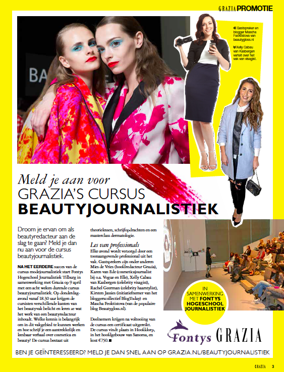 Beauty Journalism Course with Grazia