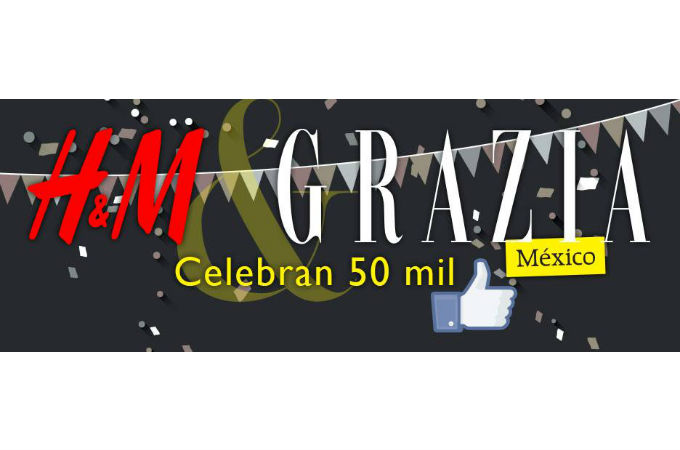 Grazia and H&M celebrates Facebook following