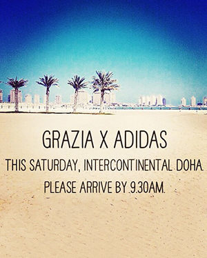 GRAZIA WITH ADIDAS FOR THE BIGGEST YOGA EVENT