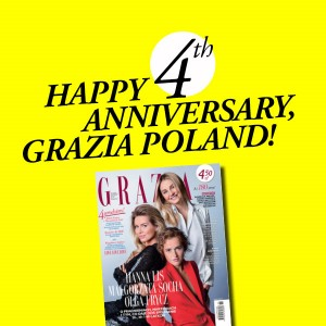 HAPPY 4TH ANNIVERSARY GRAZIA POLAND!