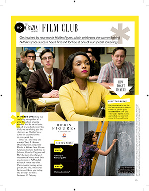 "GRAZIA FILM CLUB ""HIDDEN FIGURES"""