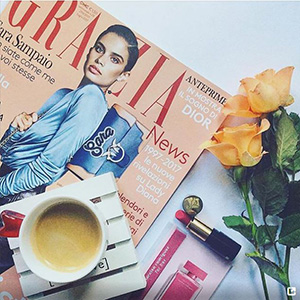GRAZIA WITH LANCOME AND ITS ABSOLU ROUGE