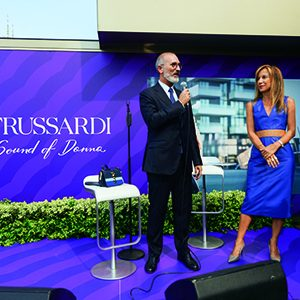 "TRUSSARDI PARFUMS AND GRAZIA FOR THE LAUNCH OF ""SOUND OF DONNA"""